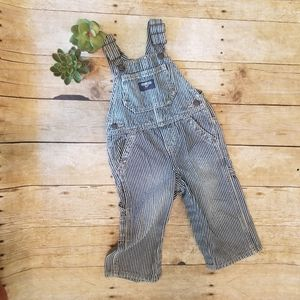 OSHKOSH b'gosh DENIM Striped Railroad Overalls